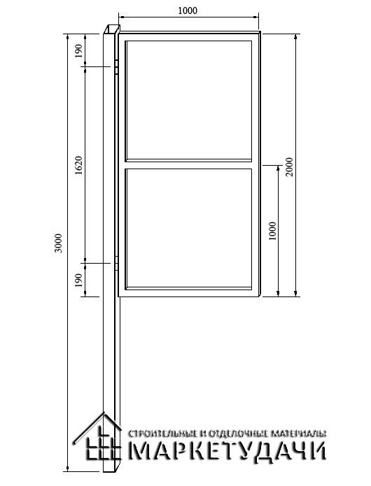 Макс-Строй Калитка оцинкованная 1,0*2,0 м.